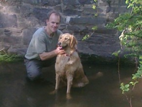 Maggie - and her new Dad, Jon, adopted May, 2010